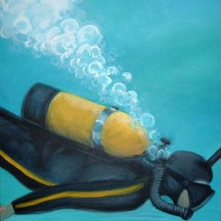 Art: The Scuba Diver by Artist Lindi Levison
