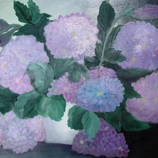 Art: Hydrangeas by Artist Shari Lynn Schmidt