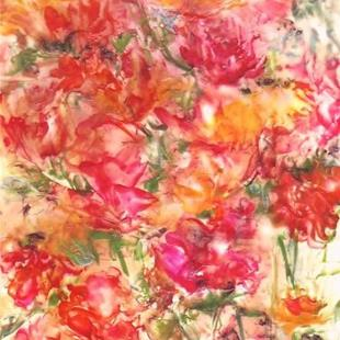 Art: Abstract Roses by Artist Ulrike 'Ricky' Martin