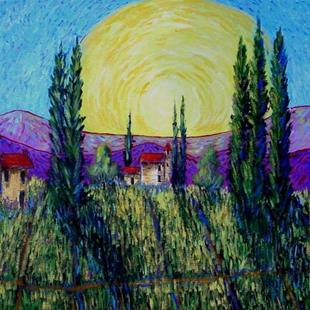 Art: Sunrise Over Tuscany by Artist Diane Funderburg Deam