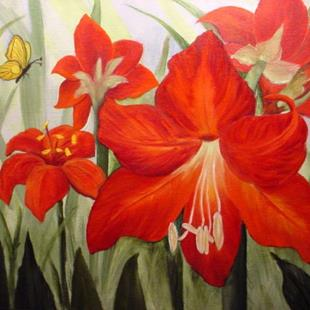 Art: Amaryllis Red  by Artist Barbara Haviland