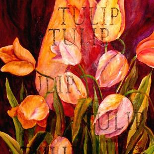 Art: Tulip - SOLD by Artist Diane Millsap