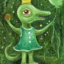 Art: The Queen of Green by Artist Vicky Knowles