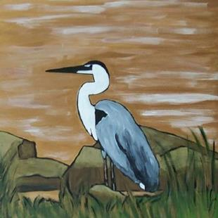 Art: shorebird by Artist Amie R Gillingham