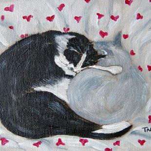 Art: Cat Buddies - Valentine by Artist Tracey Allyn Greene