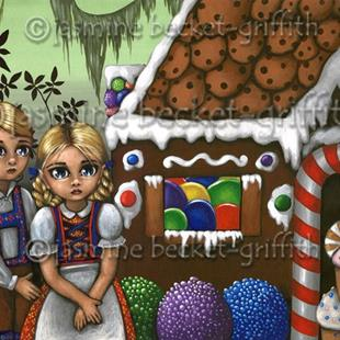 Art: Hansel and Gretel Find the Cottage by Artist Jasmine Ann Becket-Griffith