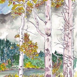 Art: Fall on the Deschutes by Artist Deborah Sprague