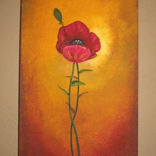 Art: Tuscan Poppy by Artist Charlene Murray Zatloukal