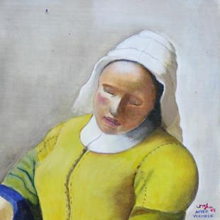 Art: After Vermeer's Milkmaid by Artist Victor McGhee