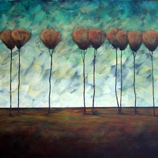 Art: Monday's Trees by Artist Diane Funderburg Deam