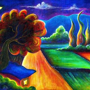 Art: La Garita Fields by Artist Christine Wasankari
