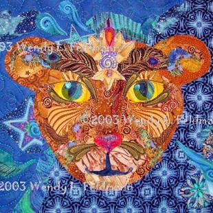 Art: The Cosmic Lion by Artist Wendy L Feldmann