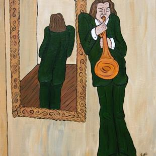 Art: Solo Reflection by Artist Jen Thario