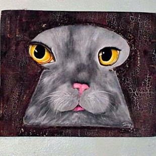Art: Keyhole Cat by Artist Dia Spriggs