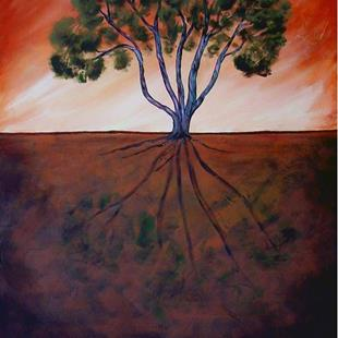 Art: Vortex Juniper by Artist Diane Funderburg Deam