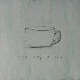 Art: the cup is red (lies we tell our children) by Artist Amie R Gillingham
