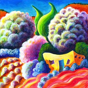 Art: Spring on the Upper Rio Grande by Artist Christine Wasankari