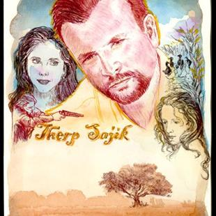 Art: Portrait of Therp Sajik by Artist Erika Nelson