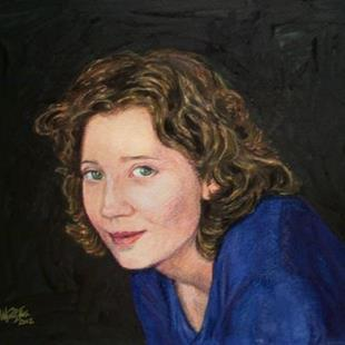 Art: Portrait of Tabatha Rhodes by Artist Margaret Crowley-Kiggins