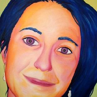 Art: Portrait of Amie Gillingham by Artist Lindi Levison