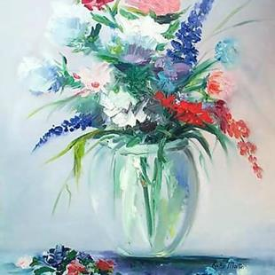 Art: FRESH FLOWERS - sold by Artist Ulrike 'Ricky' Martin