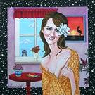 Art: Portrait of Lori Rase Hall by Artist Jen Thoman Thurston