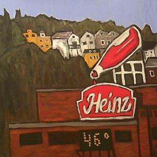 Art: Heinz Plant from 16th Street Bridge Pittsburgh, PA by Artist Amie R Gillingham