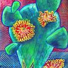 Art: One of Those Big Cactus by Artist Christine Wasankari