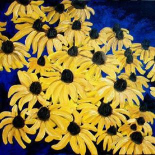 Art: Daisies In Oil by Artist Leanne Wildermuth