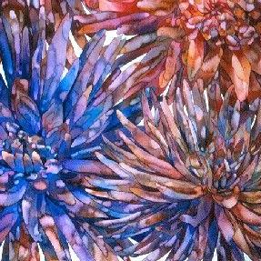 Art: Dahlias by Artist Lori Rase Hall