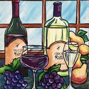 Art: Red and White Wine by Artist Melanie Douthit
