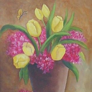 Art: Tulips//SOLD by Artist Barbara Haviland