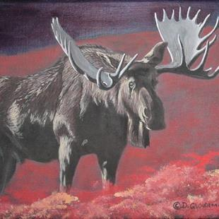 Art: Moose by Artist Denis Gloudeman