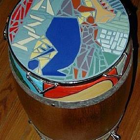 Art: The Jazz Conga Drum Table by Artist Jen Thario