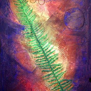 Art: Sword Fern Marine ~  From the Impressions Series by Artist Christine Wasankari