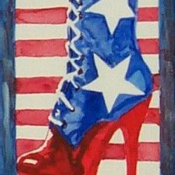 Art: All American Boot by Artist Erika Nelson