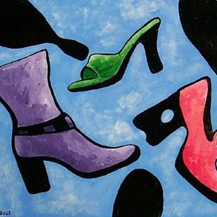 Art: Soles in the Sky by Artist Windi Rosson