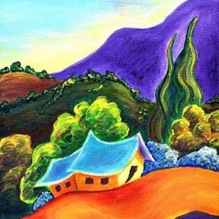 Art: This Side of Angel Fire ~ High Road Series by Artist Christine Wasankari