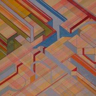 Art: Geometric study by Artist Denis Gloudeman