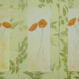 Art: Poppy triptych by Artist Eridanus Sellen