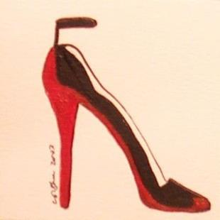 Art: Dangerous Red Shoe by Artist Victor McGhee