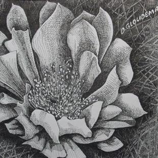 Art: Catus Flower by Artist Denis Gloudeman