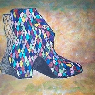 Art: Harlequin's Boot by Artist Marina Owens