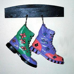 Art: Hangin' Boots by Artist Windi Rosson