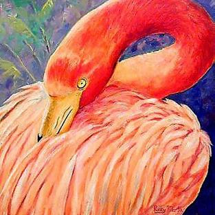 Art: Flamingo - sold by Artist Ulrike 'Ricky' Martin
