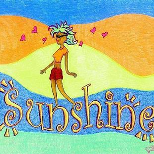 Art: Walkin' on Sunshine by Artist Leanne Wildermuth