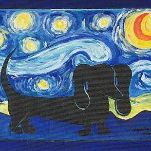 Art: Starry Doxie by Artist Melanie Douthit