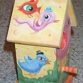 Art: The Birdhouse by Artist Vicky Knowles