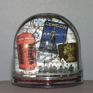Art: Travel Snow-Globe by Artist Jenny Doss