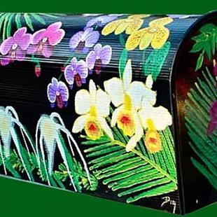 Art: Orchid Mailbox by Artist Dia Spriggs